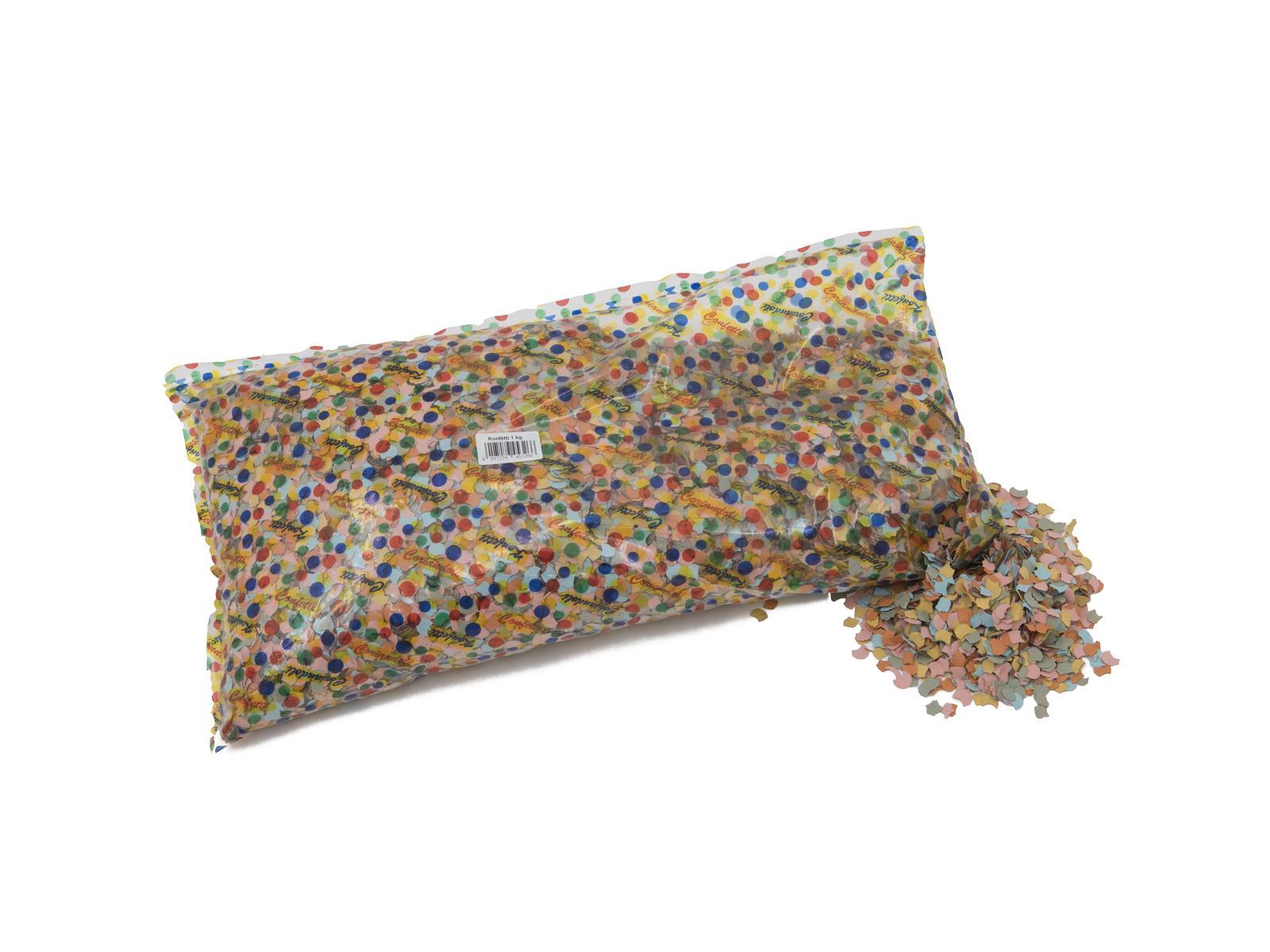 ACCESSORIO Confetti, multicolore, 7mm, 1kg