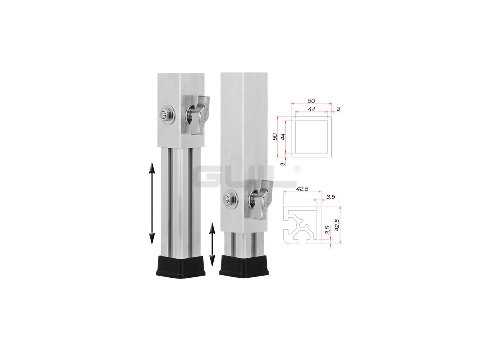 GUIL PTA-440/80-140 piedi Telescopici