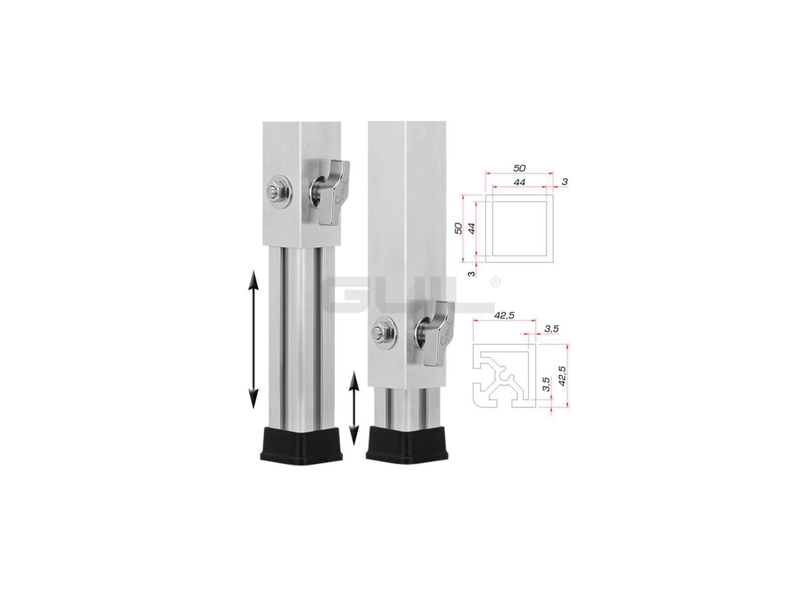 GUIL PTA-440/90-160 piedi Telescopici