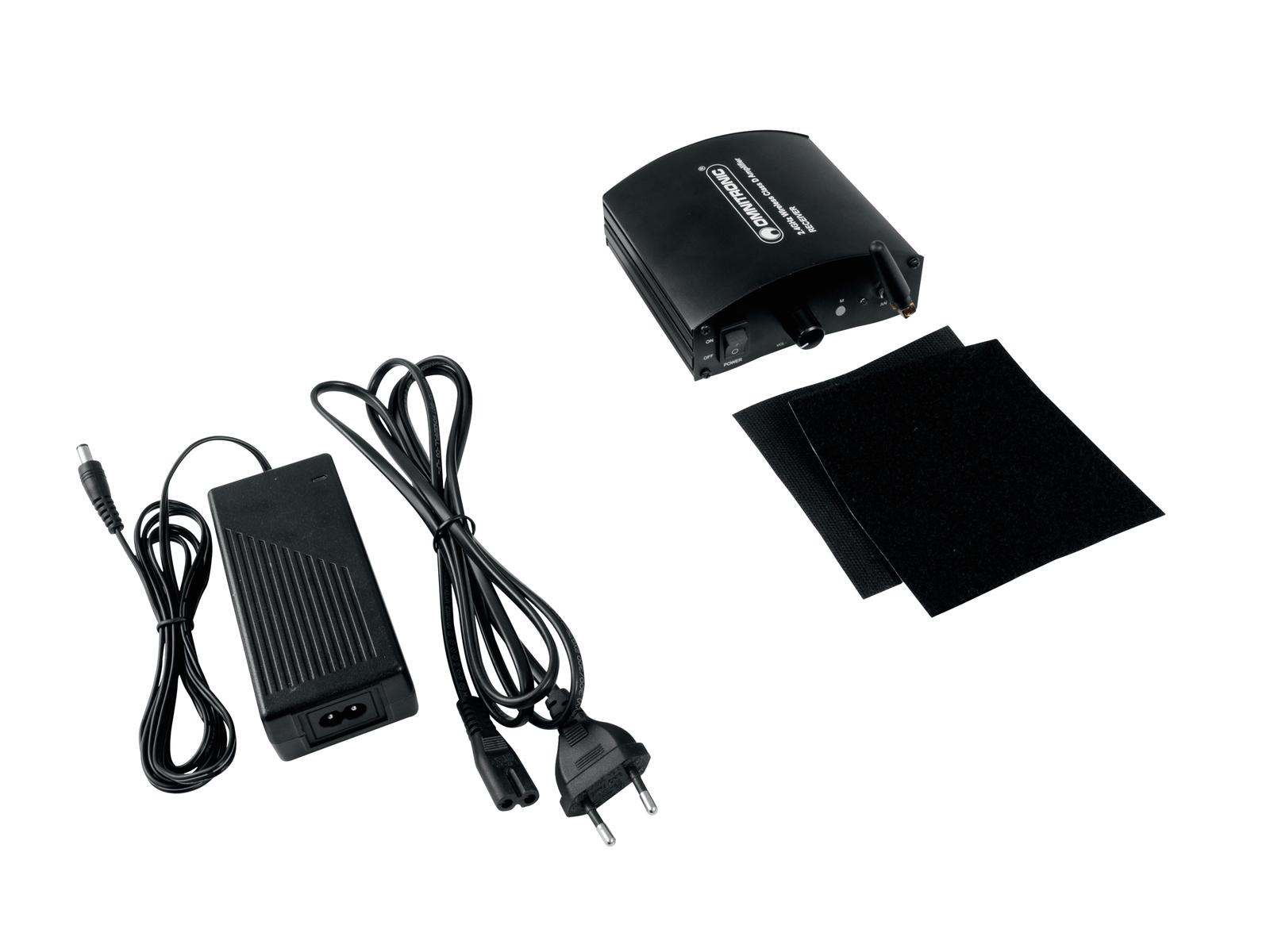 OMNITRONIC WS-1 2.4GHz Sender + 2x Empfänger, aktiv