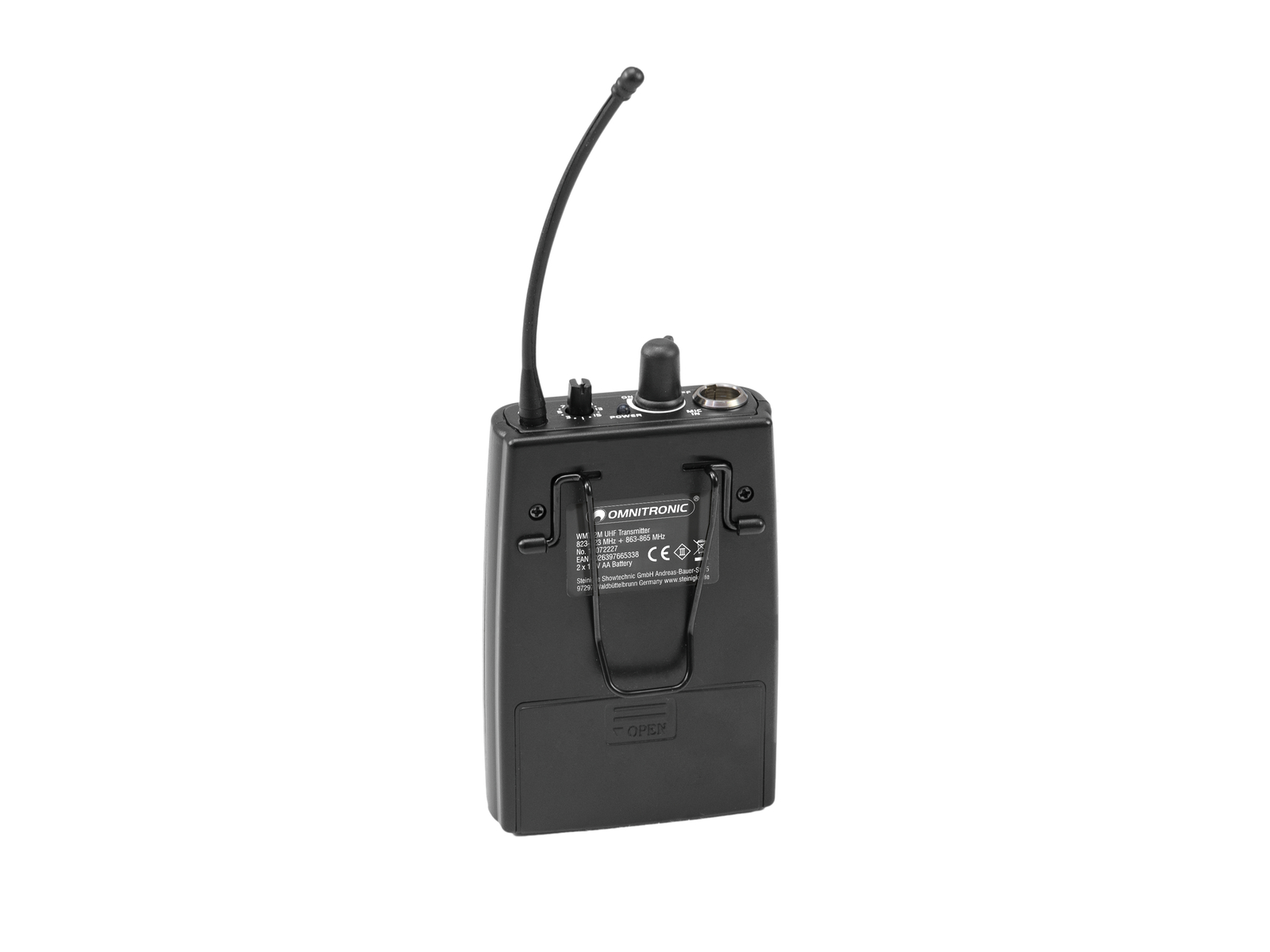 OMNITRONIC WMT-2M UHF-Sender, mono