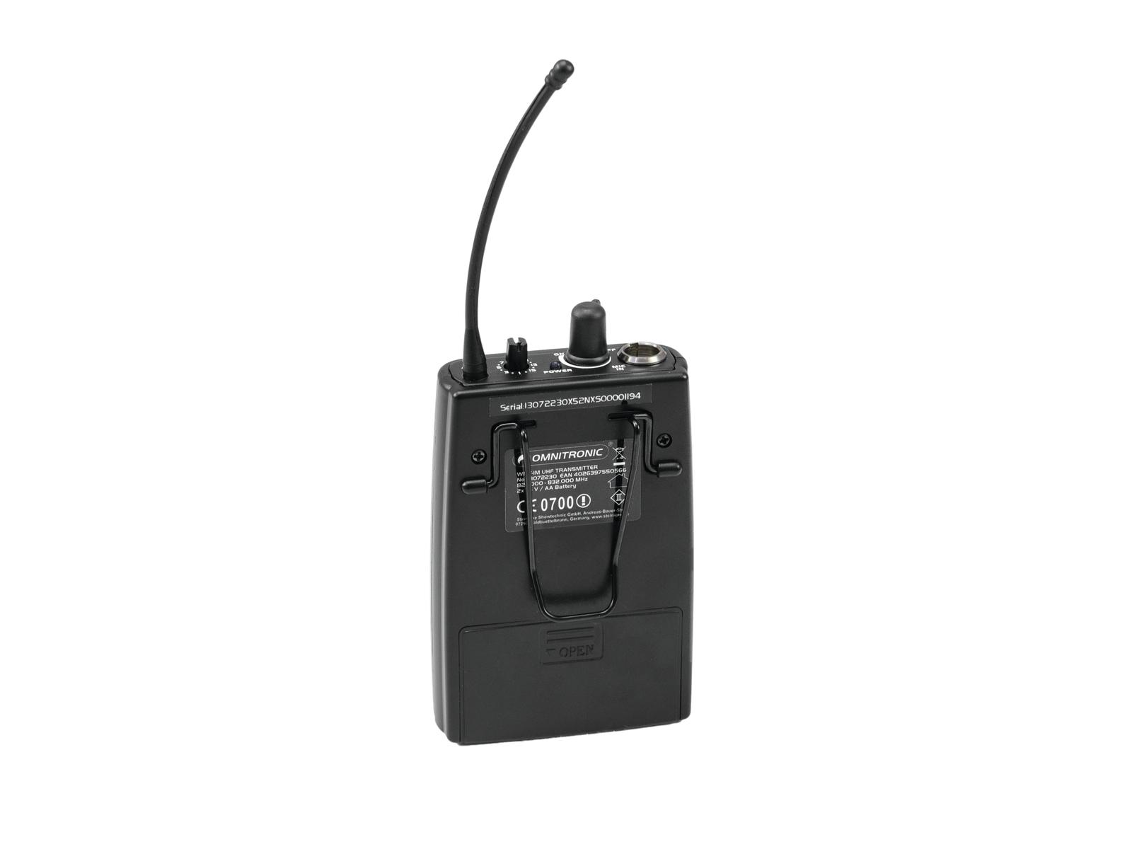 OMNITRONIC WMT-1M UHF-Sender, mono