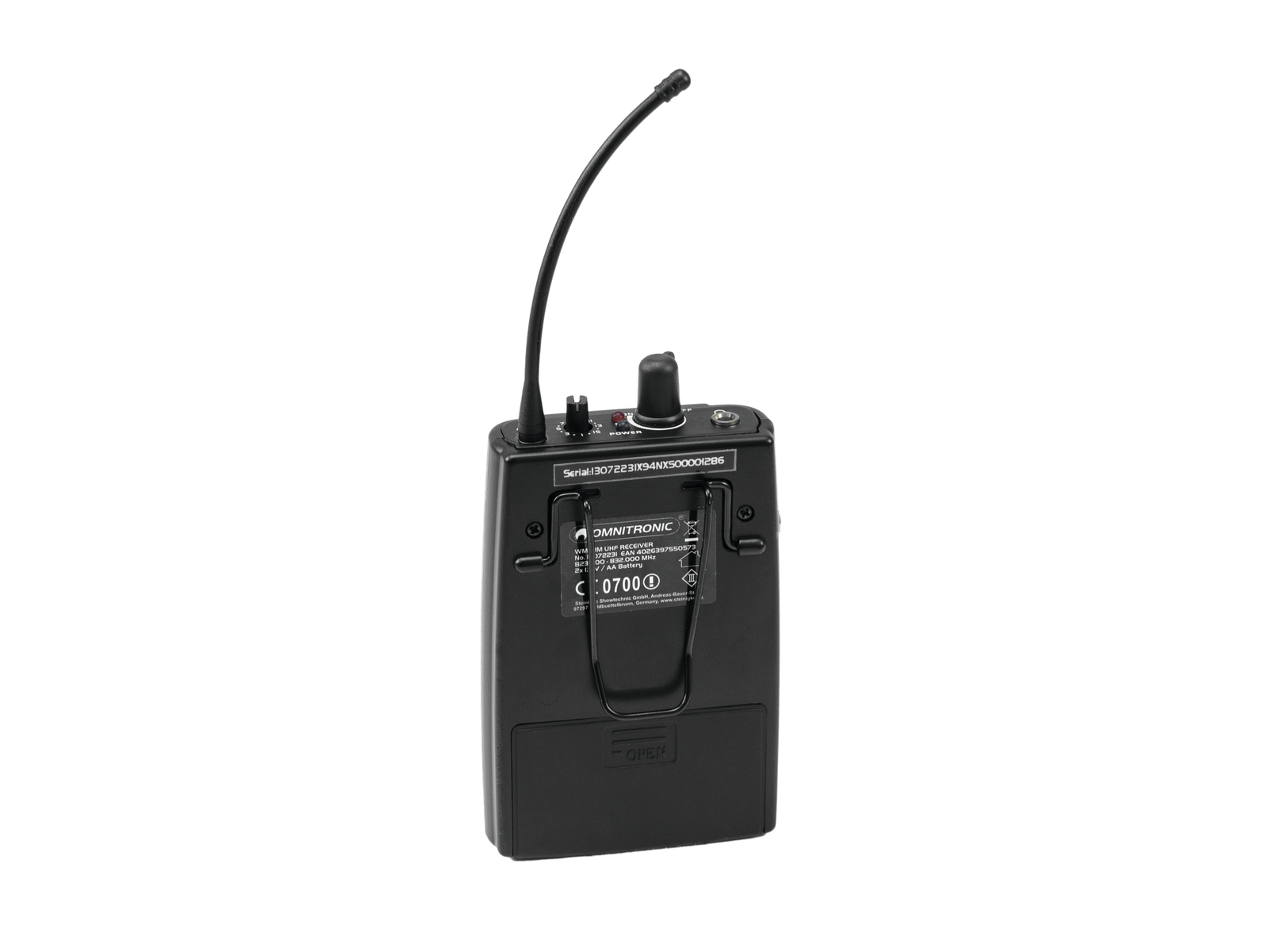OMNITRONIC WMR-1M UHF-Empfänger, mono