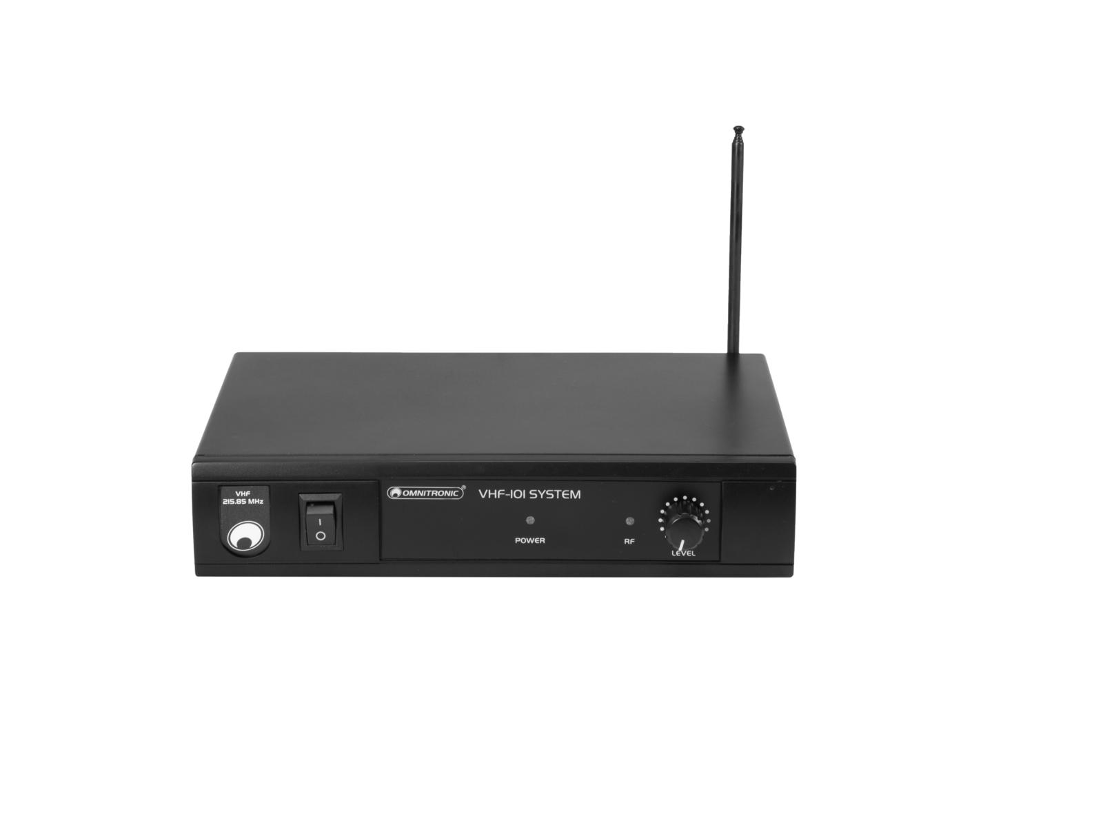 OMNITRONIC VHF-101 Funkmikrofon-System 209.80MHz