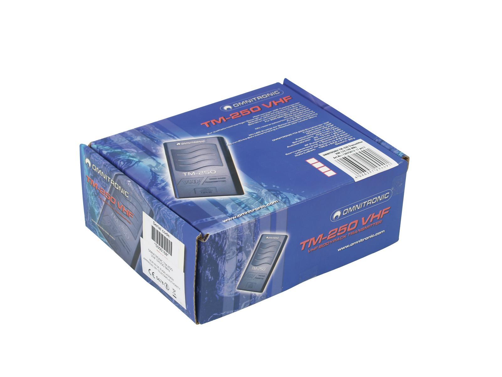 OMNITRONIC TM-250 Trasmettitore tascabile VHF179.000
