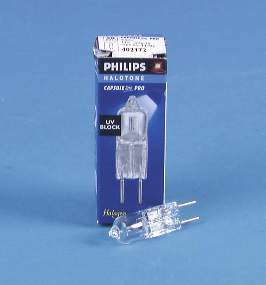 PHILIPS 13102 12V/50W GY-6,35 4000h