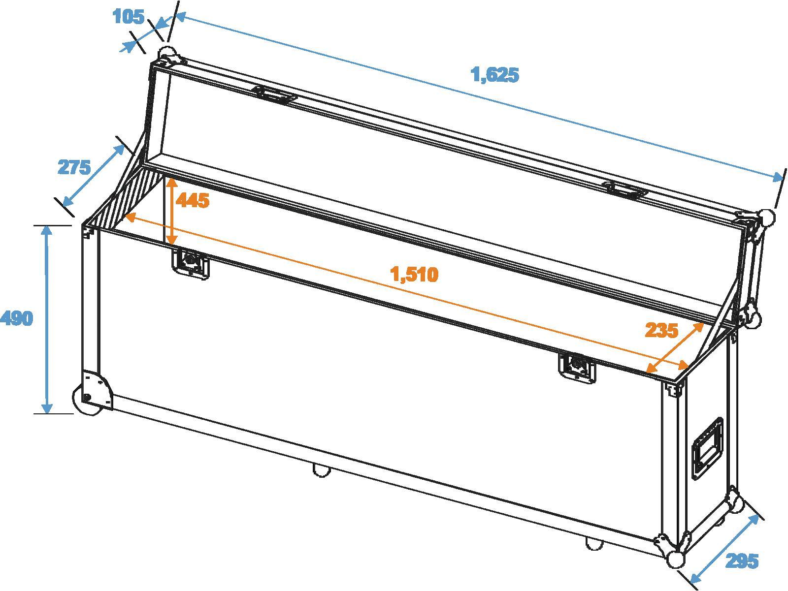 ROADINGER Flightcase in Alluminio-Bar 1,5 m 4x PAR-56