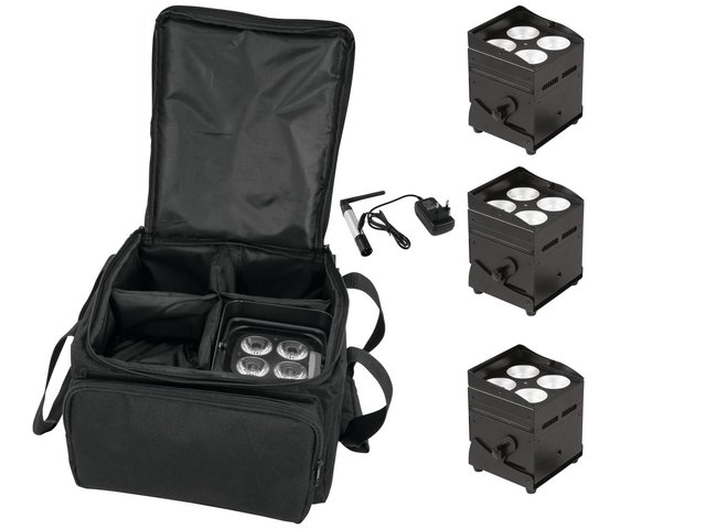 mpn20000032-eurolite-set-4x-akku-up-4-qcl-spot-quickdmx-+-sb-4-soft-bag-+-quickdmx-funksender-MainBild