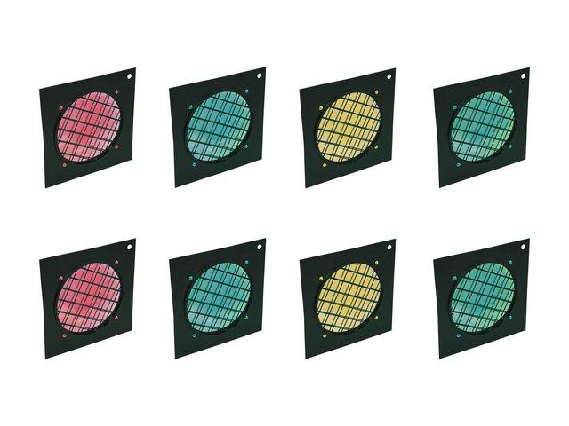 mpn20000507-eurolite-set-8x-dichro-filter-rahmen-schwarz-par-56-farblich-sortiert-MainBild