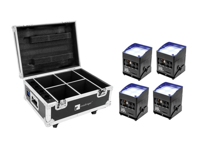 mpn20000546-eurolite-set-4x-akku-ip-up-4-qcl-spot-quickdmx-+-case-with-charging-function-MainBild