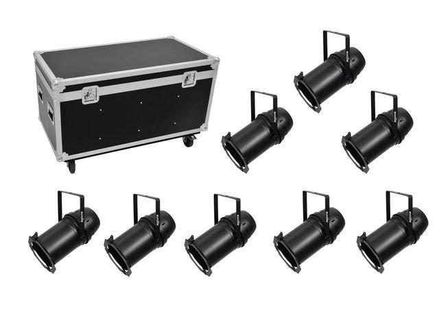 mpn20000578-eurolite-set-8x-led-par-64-cob-3000k-100w-zoom-bk-+-case-MainBild