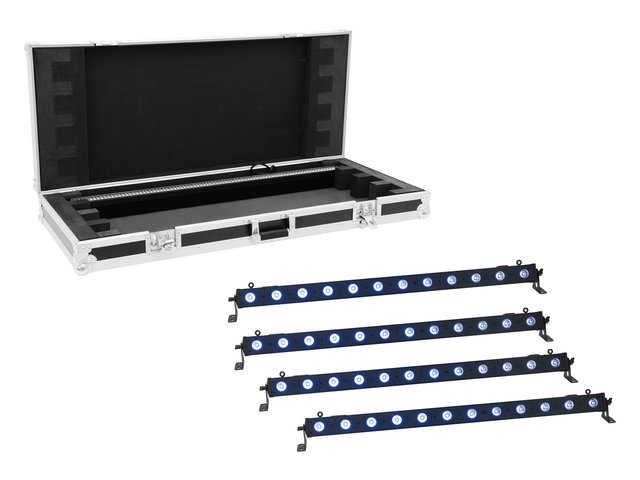 mpn20000664-eurolite-set-4x-led-bar-12-qcl-rgb+uv-leiste-+-case-MainBild