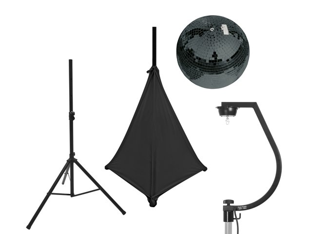 mpn20000706-eurolite-set-mirror-ball-30cm-black-with-stand-and-tripod-cover-black-MainBild