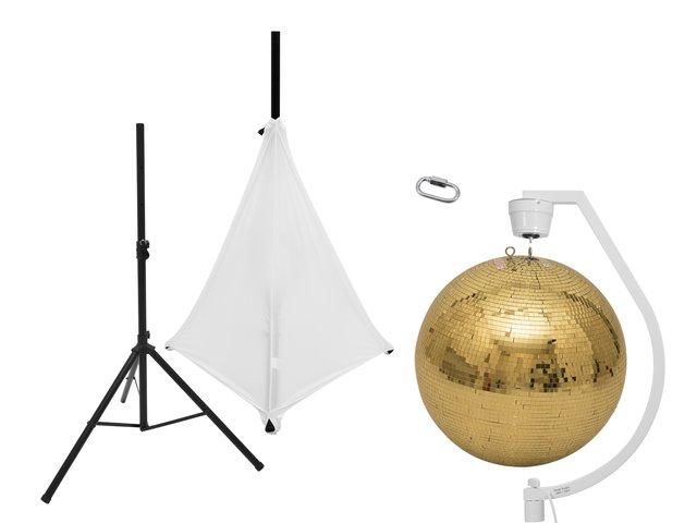 mpn20000712-eurolite-set-spiegelkugel-50cm-gold-mit-stativ-und-segel-weiss-MainBild