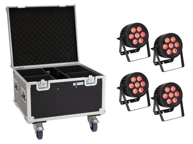 mpn20000877-eurolite-set-4x-led-ip-par-7x8w-qcl-spot-+-case-mit-rollen-MainBild