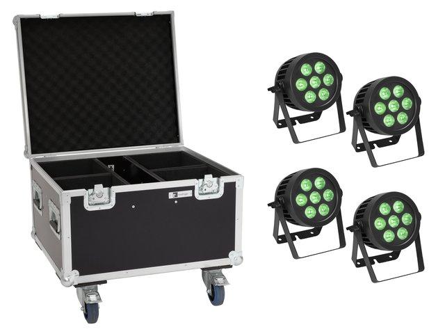 mpn20000878-eurolite-set-4x-led-ip-par-7x9w-scl-spot-+-case-mit-rollen-MainBild