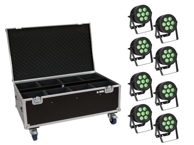 mpn20000883-eurolite-set-8x-led-ip-par-7x9w-scl-spot-+-case-mit-rollen-MainBild