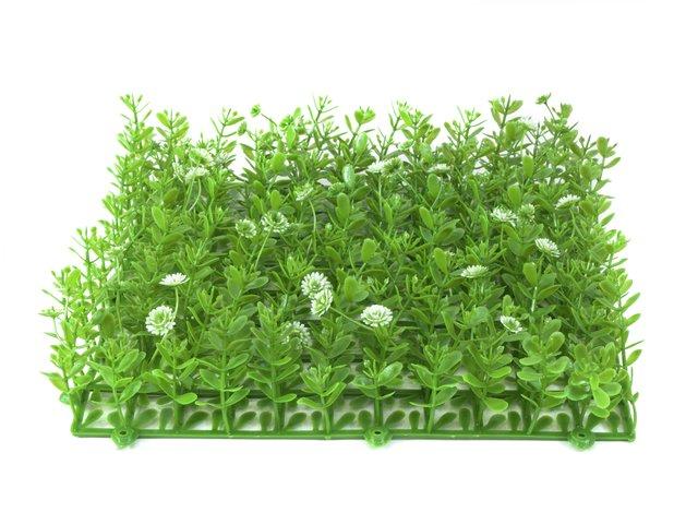 mpn82600089-europalms-grass-mat-artificial-green-white-25x25cm-MainBild
