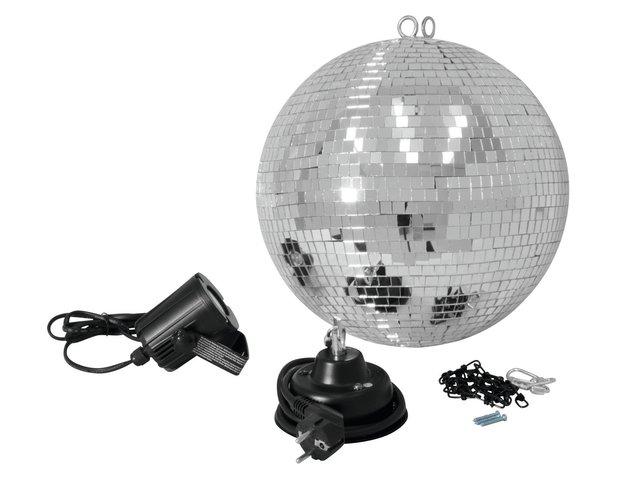 mpn50101861-eurolite-mirror-ball-set-30cm-with-led-spot-MainBild