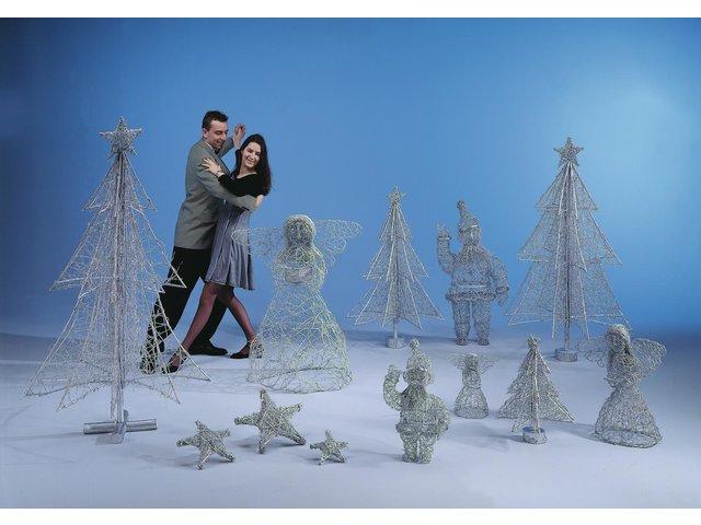 Weihnachtsbaum Rattan.Rattan Weihnachtsbaum Silber 180cm Europalms