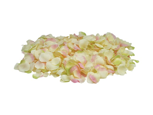 100 X Yellow Pink Silk Rose Petals Christening Confetti