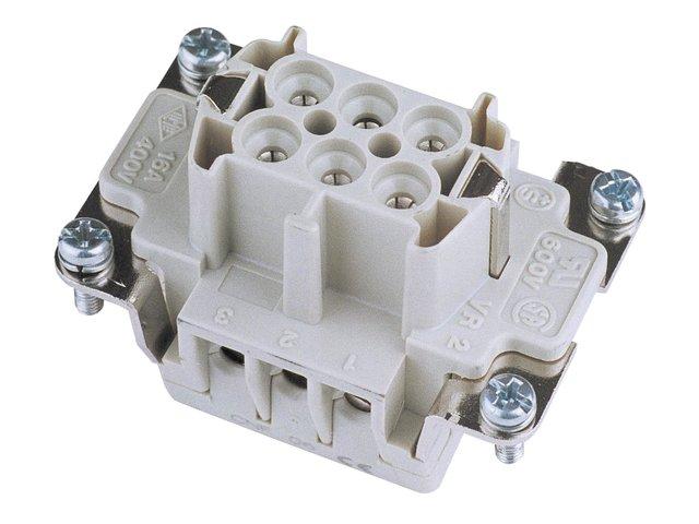 mpn30350350-ilme-socket-insert-6-pin-16a-screw-terminal-MainBild