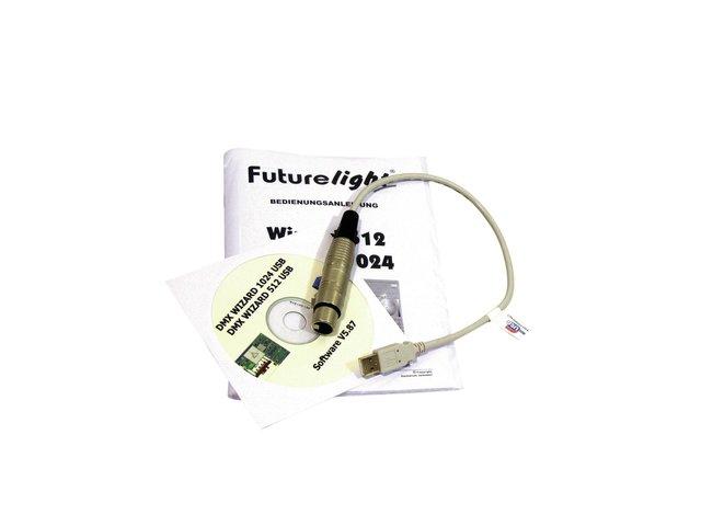 Wizard-512 USB DMX software + interface - futurelight
