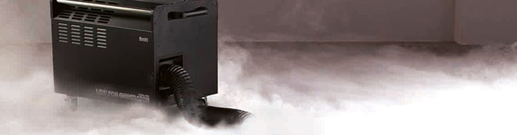 Ground fog machines