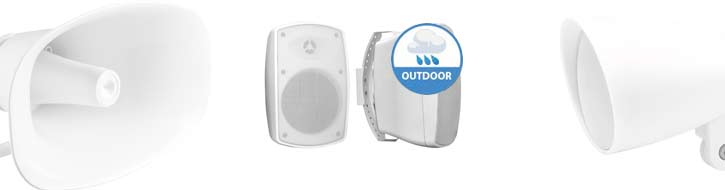 Outdoor PA speakers