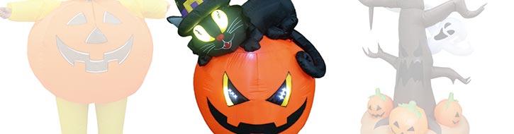 Halloween objects with fan